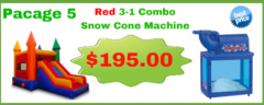 Red 3 - 1 Combo Slide Dry 13x23 + Snow Cone